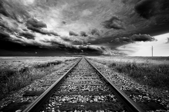 ... and light | Black & White | Storm Over The Railroad Tracks (2013: federicobuchbinder.com/black_and_white/h631906a5